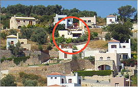 Location on the holiday villas slope
