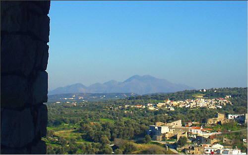 View of the Kouloukonas Mountains
