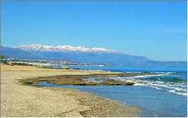 Adelianos Campos: View from the beach towards Rethymnon